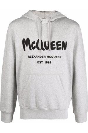 Alexander McQueen Men Hoodies - Logo-print hoodie