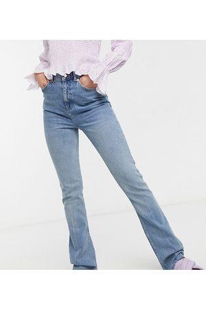 ASOS Women Boyfriend - ASOS DESIGN Tall high-rise 70s stretch flare jeans in lightwash-Blue