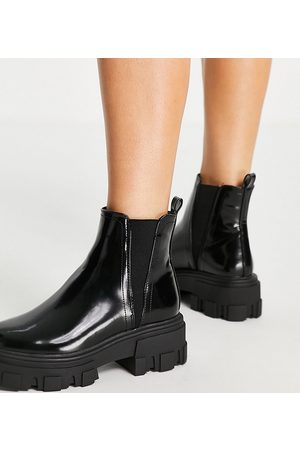 ASOS Boots - Wide Fit Addy chunky chelsea boots in black