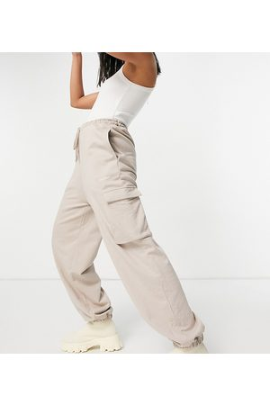 COLLUSION Unisex utility trackies in dusty brown