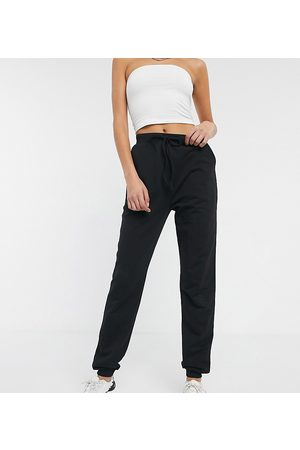 ASOS ASOS DESIGN Tall basic trackies with tie waist in organic cotton-Black