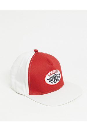 Boardmans Varsity logo flat peak cap in red