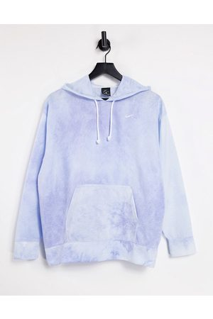 Nike Men Neckties - Icon Clash tie-dye hoodie in blue