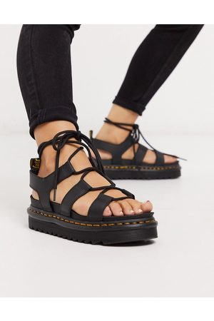 Dr. Martens Sandals - Nartilla Lace Up Chunky Sandal-Black