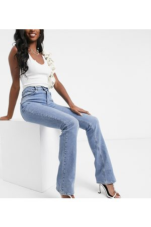 ASOS ASOS DESIGN Tall high-rise 70s stretch flare in midwash-Blue
