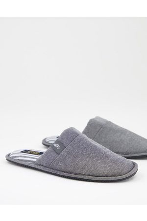 Polo Ralph Lauren Summit scuff mule slippers in grey