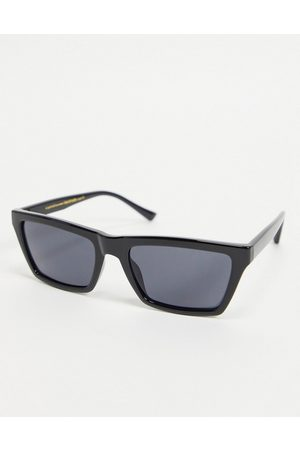 A. Kjærbede Clay unisex slim square sunglasses in black