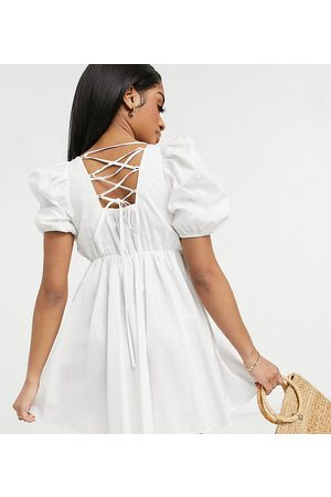 Y.A.S Y.A.S. Petite mini smock dress in white