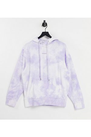 COLLUSION Outfit Sets - Unisex hoodie with purple tie dye co-ord