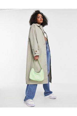 ASOS Trench Coats - Longline trench coat in khaki-Brown