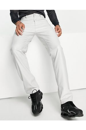 ASOS DESIGN Jeans - Dad jeans in light grey leather look