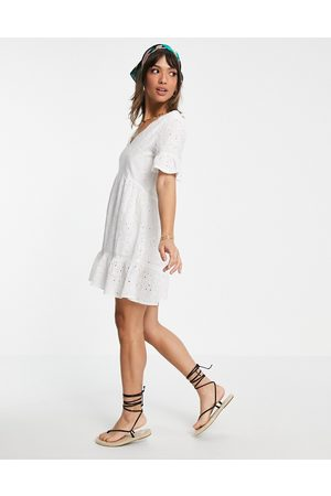Accessorize Women Dresses - Broderie dress in white