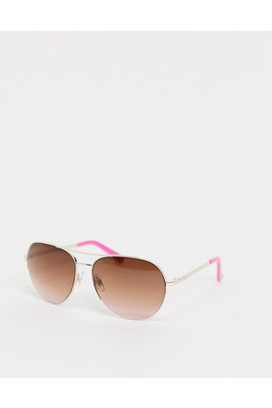 Lipsy Sunglasses - Aviator style sunglasses with gold frame