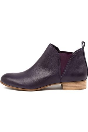 Django & Juliette Foe Lrg Aubergine Boots Womens Shoes Casual Ankle Boots