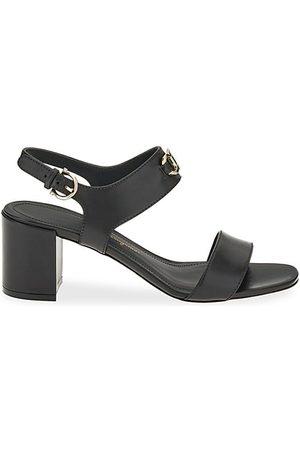 Salvatore Ferragamo Cayla Leather Slingback Sandals