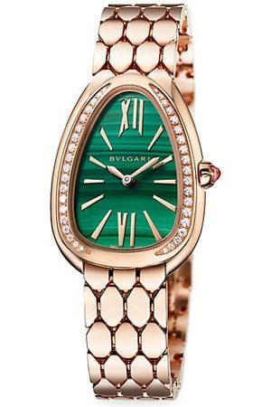 BVLGARI Lady Serpenti Seduttori 18K , Diamond & Malachite Dial Bracelet Watch