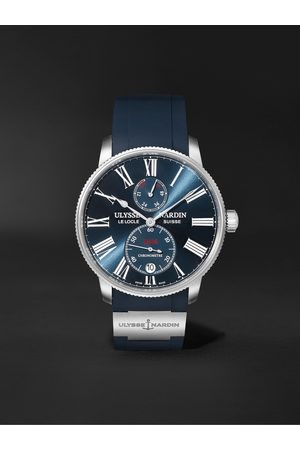 Ulysse Nardin Men Watches - Marine Torpilleur Automatic 42mm Stainless Steel and Rubber Watch, Ref. No. 1183-310-3/43