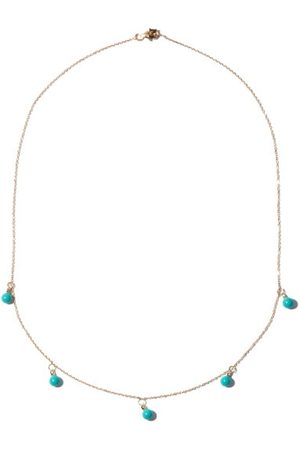 Mateo Five Dot Diamond, Turquoise & 14kt Gold Necklace - Womens