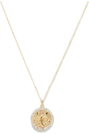 Mateo Scorpio Large Diamond & 14kt Zodiac Necklace - Womens