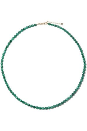 Mateo Women Necklaces - Malachite Beaded Choker Necklace - Womens