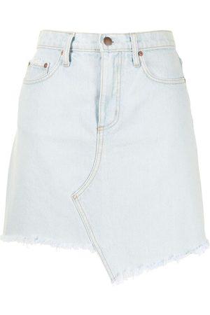 Nobody Denim Raw-hem asymmetric skirt