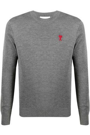 Ami Men Sweatshirts - Ami de Coeur crew-neck jumper