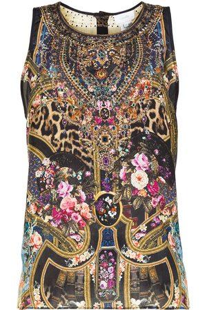Camilla Women Tank Tops - Multi-print vest top