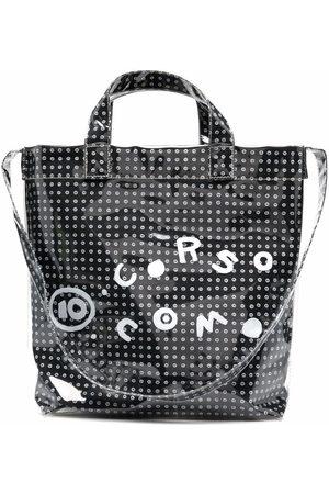 10 CORSO COMO Coated logo-print tote bag