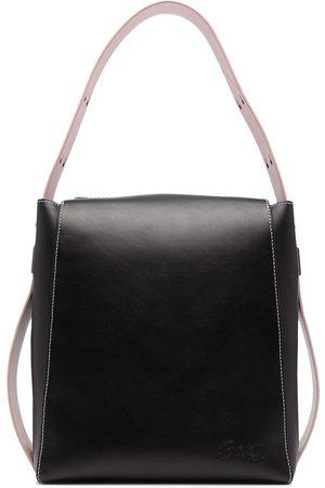 BAPY Women Shoulder Bags - Logo-plaque leather shoulder bag