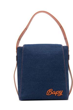 BAPY Women Shoulder Bags - Logo-plaque denim shoulder bag
