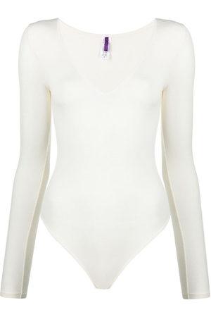 MAISON CLOSE Women Lingerie Bodies - Long-sleeved modal bodysuit