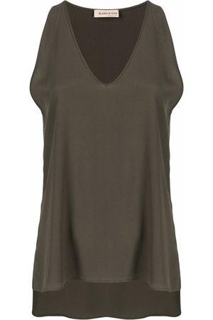 BLANCA Women Tank Tops - V-neck vest top