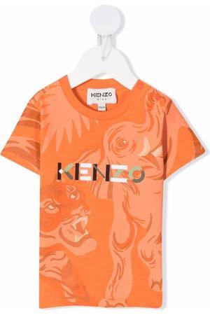 Kenzo Short Sleeve - Animal-print logo T-shirt