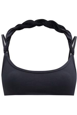 The Attico Twist-strap Scoop-neck Bikini Top - Womens