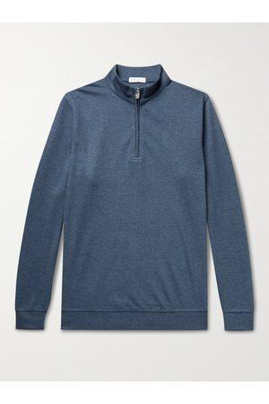Peter Millar Men Sweatshirts - Crown Mélange Stretch Cotton and Modal-Blend Half-Zip Sweatshirt