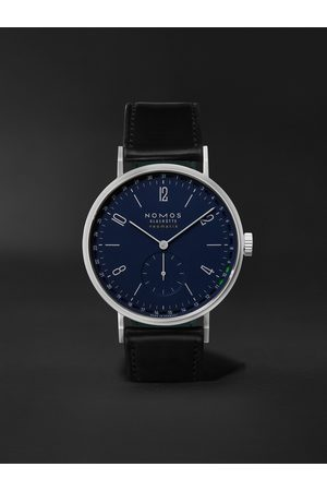 Nomos Glashütte Men Watches - Tangente Neomatik 41 Automatic 41mm Stainless Steel and Cordovan Leather Watch, Ref. No. 182