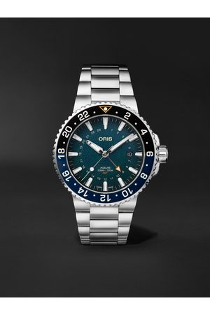 Oris Men Watches - Aquis Whale Shark Limited Edition Automatic 43.5mm Stainless Steel Watch, Ref. No. 01 798 7754 4175-Set