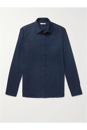 The Row Men Casual - Robin Cotton and Cashmere-Blend Shirt