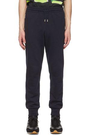 DRIES VAN NOTEN Navy French Terry Lounge Pants