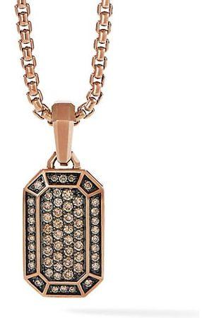 David Yurman Men Necklaces - Pavé 18 Rose & Cognac Diamond Amulet