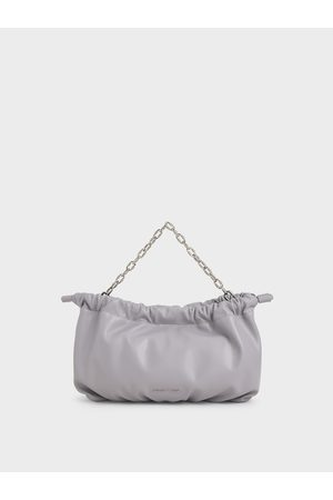 Charles & Keith Women Clutches - Chain Handle Drawstring Clutch