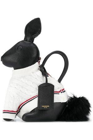 Thom Browne Men Tote Bags - Rabbit knitted-jumper tote bag