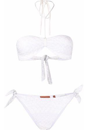 Missoni Women Bikinis - Pointelle-knit halterneck bikini set