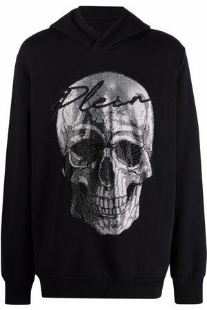 Philipp Plein Men Hoodies - Crystal-embellished skull hoodie
