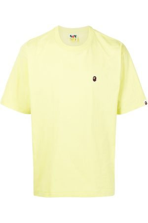A Bathing Ape Men Short Sleeve - Embroidered logo cotton T-shirt