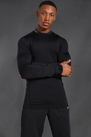 Boohooman Mens Man Active Compression Long Sleeve T-shirt