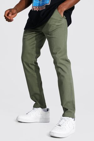 Boohoo Mens Khaki Skinny Fit Chino Trouser