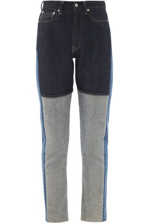 KURO Monster Patchwork Slim-leg Jeans - Womens - Denim