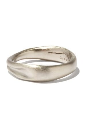 COMPLETEDWORKS Deflated Platinum-plated Sterling- Ring - Mens