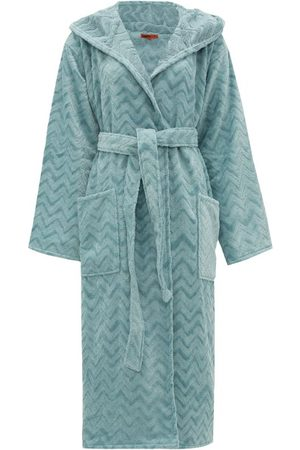 Missoni Women Bathrobes - Rex Zigzag Hooded Cotton-terry Bathrobe - Womens - Light